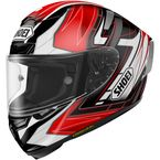 Red/Black/White X-Fourteen Asail TC-2 Helmet - 0104-1101-05