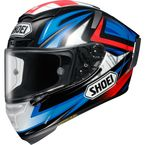 Blue/Red/Black X-Fourteen Bradley 3 TC-1 Helmet - 0104-1301-07