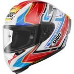 Red/Blue/White X-Fourteen Asail TC-10 Helmet - 0104-1110-06