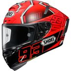 Red/Black X-Fourteen Marquez 4 TC-1 Helmet - 0104-1201-06