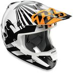 Orange/White Dazzle Helmet - 0110-4707