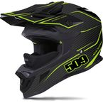 Matte Black/Lime Altitude Carbon Fiber Helmet - 509-HEL-ACL-MD