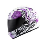 White/Purple EXO-R410 Novel Helmet - 41-10795