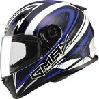 White/Blue/Black  FF49 Warp Street Helmet - G7491216 TC-2