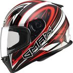 White/Red/Black FF49 Warp Street Helmet - G7491207 TC-1