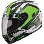 White/Hi-Viz Green/Black FF88 X-Star Helmet - 72-4775L