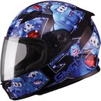 Youth Black/Blue GM49Y Attack Street Helmet - G7494212
