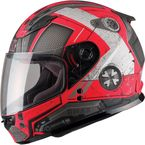 Youth Flat Red/Dark Silver GM49Y Trooper Street Helmet - G7495200 TC-1F