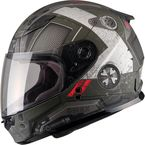 Youth Flat OD Green/Black/Red GM49Y Trooper Street Helmet - G7495710 TC-3F