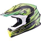 Black/Green/Hi-Viz Yellow MX86 Raz Helmet - 72-6854L