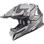 Flat Black/Dark Silver MX86 Step Helmet - 72-6847L