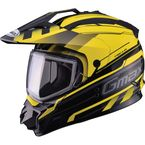 Black/Yellow GM11S Trekka Snow Sport Snowmobile Helmet  - 72-7135L