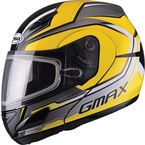 Yellow/Silver/Black GM44S Glacier Modular Snowmobile Helmet - 72-6085L