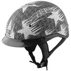 Matte Black/Silver Stars and Stripes SS300 Helmet - 877746