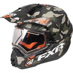Army Urban Camo/Orange Torque X Squadron Helmet w/Electric Shield - 170613-7630-13