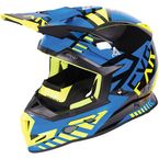 Black/Blue/Hi-Vis Boost Battalion Helmet - 170606-1040-13