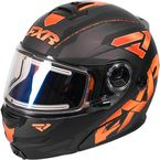 Black/Flo Orange/Charcoal Fuel Modular Elite Helmet w/Electric Shield - 170624-1033-10