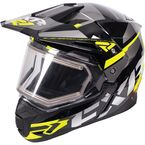 Black/Hi-Vis/Charcoal FX-1 Team Helmet w/Electric Shield  - 170609-1065-13