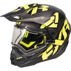 Black/Hi-Vis/Charcoal Torque X Core Helmet w/Electric Shield  - 170610-1065-13
