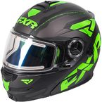 Black/Lime/Charcoal Fuel Modular Elite Helmet w/Electric Shield - 170624-1070-19