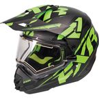 Black/Lime/Charcoal Torque X Core Helmet w/Electric Shield  - 170610-1070-13
