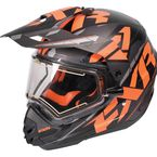 Black/Orange/Charcoal Torque X Core Helmet w/Electric Shield  - 170610-1030-07