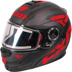 Black/Red/Charcoal Fuel Modular Elite Helmet w/Electric Shield - 170624-1020-13