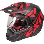 Black/Red/Charcoal Torque X Core Helmet w/Electric Shield  - 170610-1020-16