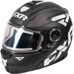 Black/White/Charcoal Fuel Modular Elite Helmet w/Electric Shield - 170624-1001-10