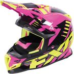 Electric Pink/Hi-Vis/Black Boost Revo Helmet - 170607-9465-04