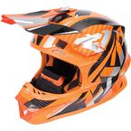 Flo Orange/Silver Blade Carbon Helmet - 170600-3309-10