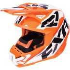 Flo Orange/White/Black Torque Core Helmet - 170621-3301-13