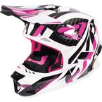 Fuchsia/White/Black Blade Throttle Helmet - 170603-9001-07