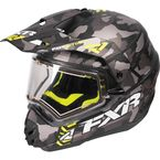 Gray Urban Camo/Hi-Vis Torque X Squadron Helmet w/Electric Shield - 170613-0665-19