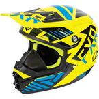 Youth Hi-Vis/Blue/Black Throttle Battalion Helmet - 170668-6540-13