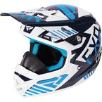 Youth Navy/Blue/White Throttle Battalion Helmet - 170668-4540-13