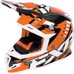 Orange/Black/White Boost Revo Helmet - 170607-3010-13