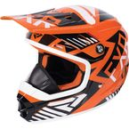 Youth Orange/Black/White Throttle Battalion Helmet - 170668-3010-13