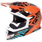 Orange/Teal/Black Boost Battalion Helmet - 170606-3055-16