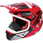 Youth Red/Black/White Throttle Battalion Helmet - 170668-2010-13