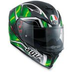 Black/Green K-5 S Hurricane Helmet - 0041O2HY00609