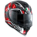 Black/Red K5 Hurricane Helmet  - 0041O2HY00709