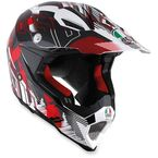 White/Red AX-8 EVO Helmet - 7511O2C001809