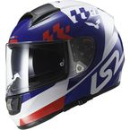 White/Blue/Red Vector Podium Helmet - 397-6104