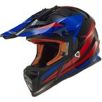 Black/Blue/Red Fast Race Helmet - 437-1204