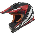 Black/White/Red Fast Race Helmet - 437-1215