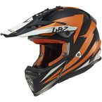 Orange/Black Fast Race Helmet - 437-1244