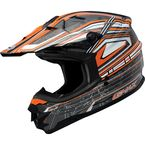 Silver/White/Orange GM76X Helmet - G3768258 TC-6