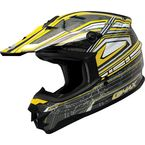 Silver/Yellow/White GM76X Helmet - G3768239 TC-4