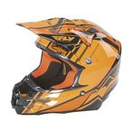 Black/Orange HMK F2 Carbon Cross Helmet - 73-4926S